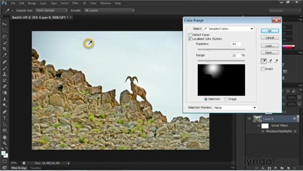 Applying the Shadow/Highlights command to a Smart Object: Nondestructive Exposure and Color Correction with Photoshop