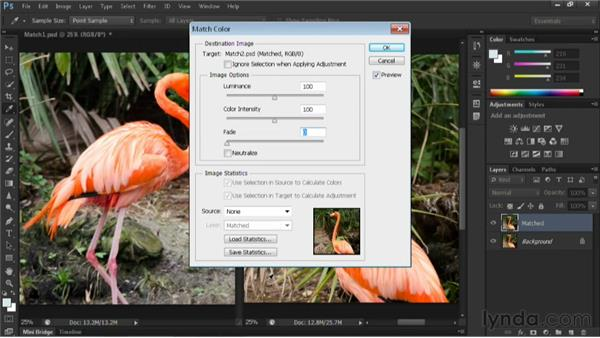 Using Match Color with two photos: Nondestructive Exposure and Color Correction with Photoshop