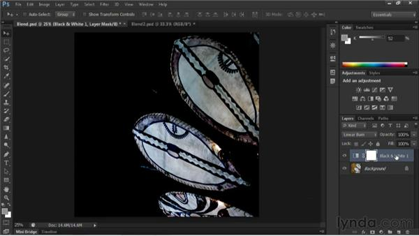 Combining Black & White adjustment layers with blend modes: Nondestructive Exposure and Color Correction with Photoshop