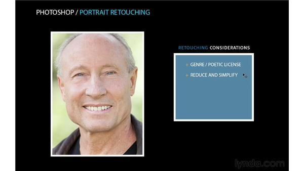 Initial retouching considerations: Photoshop for Photographers: Portrait Retouching