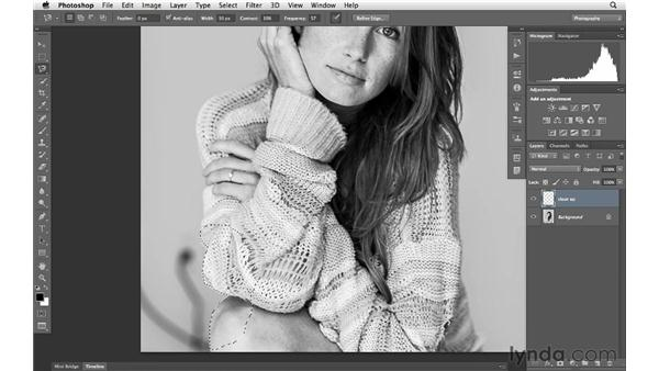 Using selections and cloning to remove distractions: Photoshop for Photographers: Portrait Retouching