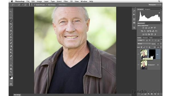 Removing lint from a T-shirt: Photoshop for Photographers: Portrait Retouching