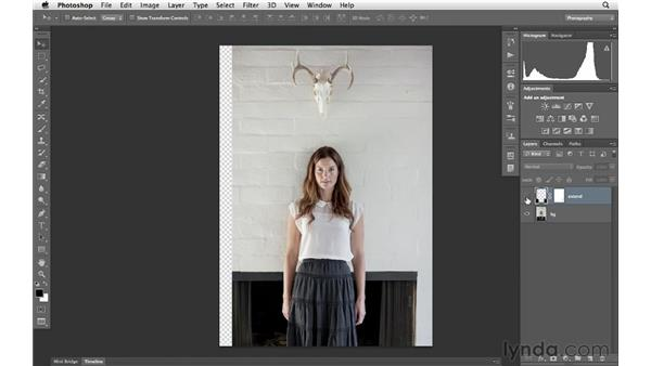 Extending a real-world scene, part 2 : Photoshop for Photographers: Portrait Retouching