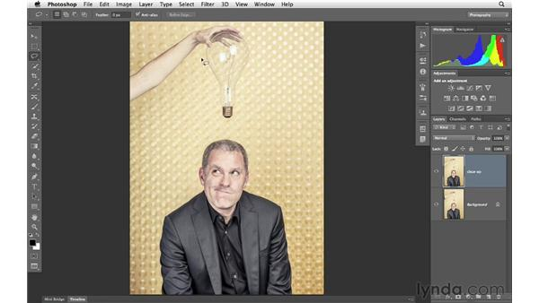 Removing distractions for a creative effect: Photoshop for Photographers: Portrait Retouching