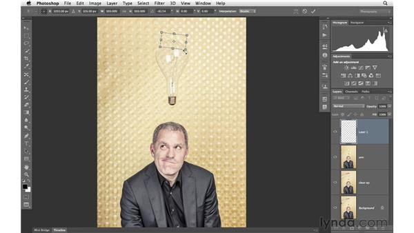 Using selections and Free Transform to rebuild image elements: Photoshop for Photographers: Portrait Retouching
