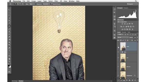 Moving a person with Content-Aware Move: Photoshop for Photographers: Portrait Retouching