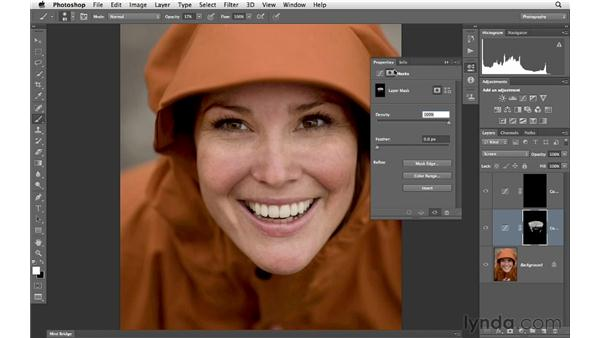 Correcting tone with blending modes and masking: Photoshop for Photographers: Portrait Retouching