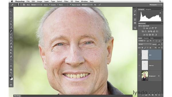 Reducing wrinkles with the Healing Brush: Photoshop for Photographers: Portrait Retouching