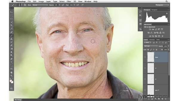Working on wrinkles and details: Photoshop for Photographers: Portrait Retouching