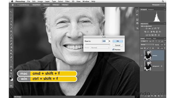 Quick wrinkle reduction with the Patch tool: Photoshop for Photographers: Portrait Retouching
