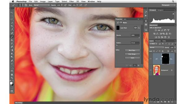 Enhancing eyes with adjustment layers and blending: Photoshop for Photographers: Portrait Retouching