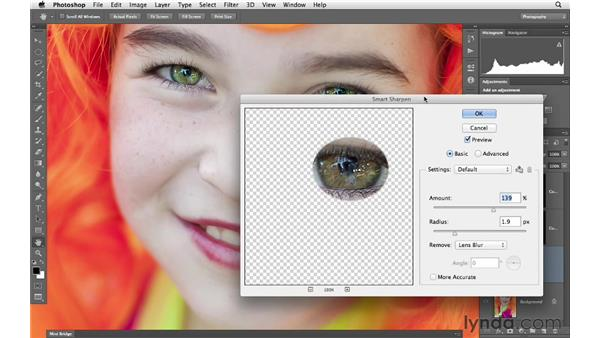 Adding sparkle to the eyes: Photoshop for Photographers: Portrait Retouching