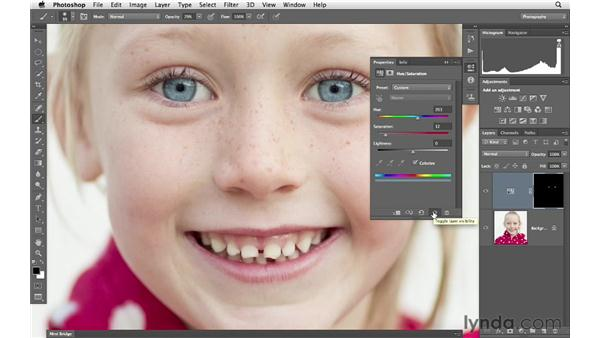 Increasing color with Colorize and blending modes: Photoshop for Photographers: Portrait Retouching