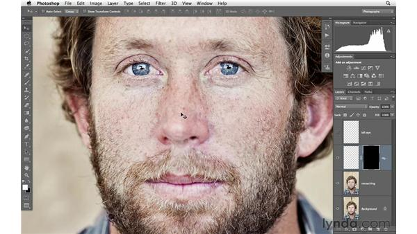Rebuilding the edge of the eye: Photoshop for Photographers: Portrait Retouching