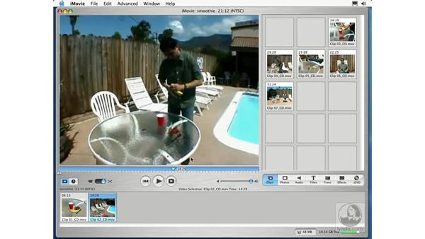 editing and arranging clips: Learning iLife: iTunes 4, iPhoto 2, iMovie 3 and iDVD 3
