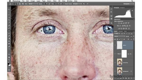 Whitening eyes, part 1: Photoshop for Photographers: Portrait Retouching