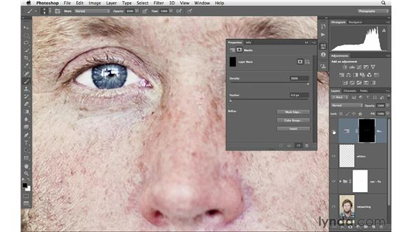 Whitening eyes, part 2: Photoshop for Photographers: Portrait Retouching