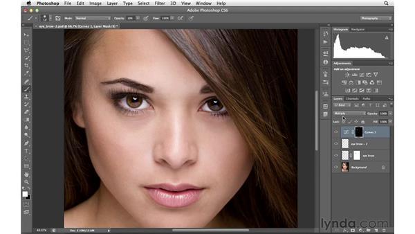 Darkening eyebrows: Photoshop for Photographers: Portrait Retouching