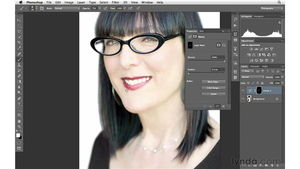 Enhancing lip color and tone with curves and masking: Photoshop for Photographers: Portrait Retouching