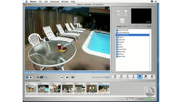 adding transitions: Learning iLife: iTunes 4, iPhoto 2, iMovie 3 and iDVD 3