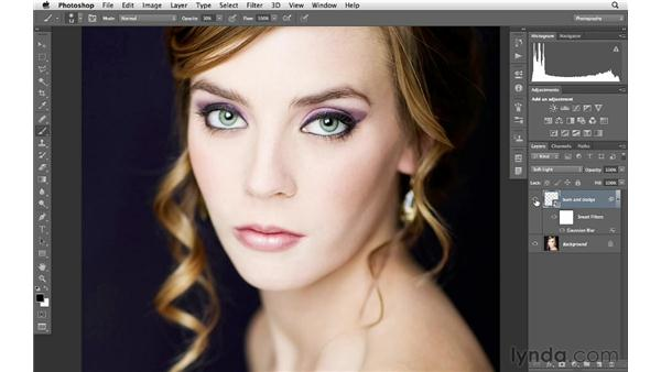 Improving the look of lips with the Burn and Dodge tools: Photoshop for Photographers: Portrait Retouching