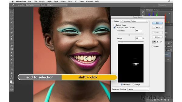Teeth whitening made easy: Photoshop for Photographers: Portrait Retouching