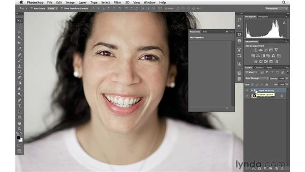 Automating teeth whitening with actions: Photoshop for Photographers: Portrait Retouching