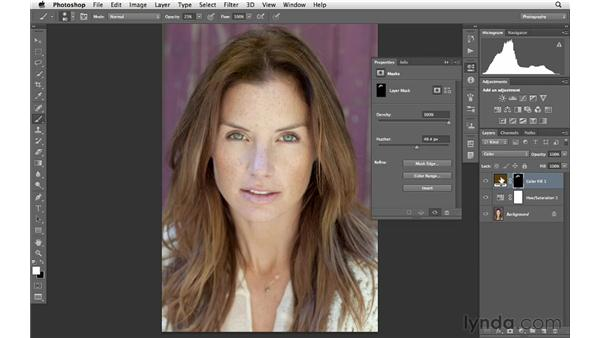 Covering and correcting hair discoloration: Photoshop for Photographers: Portrait Retouching