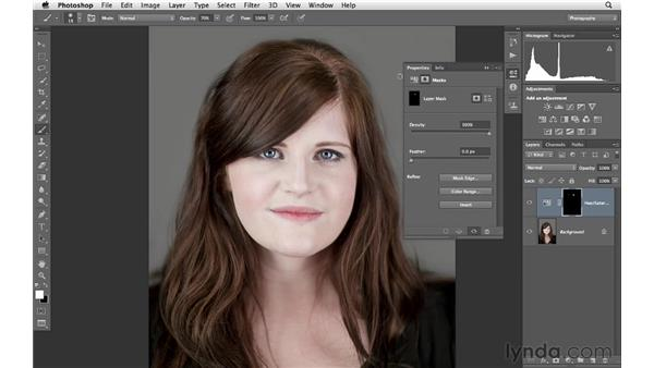 Fixing the color of hair roots: Photoshop for Photographers: Portrait Retouching