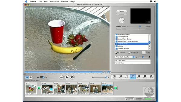 adding titles: Learning iLife: iTunes 4, iPhoto 2, iMovie 3 and iDVD 3
