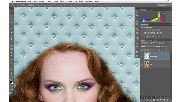 Fixing flyaway hairs with a complicated background: Photoshop for Photographers: Portrait Retouching