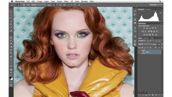 Increasing color saturation and variety: Photoshop for Photographers: Portrait Retouching