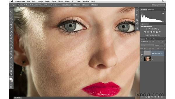 High-pass skin softening: Photoshop for Photographers: Portrait Retouching