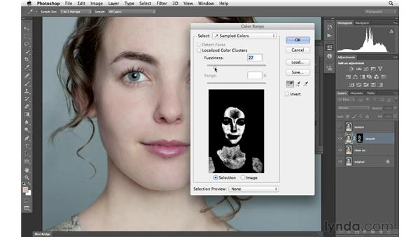 Creating a mask for the skin: Photoshop for Photographers: Portrait Retouching