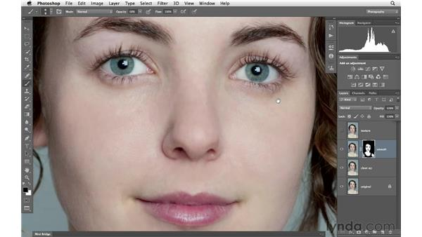Softening and adding even texture to the skin: Photoshop for Photographers: Portrait Retouching