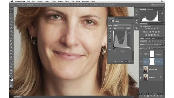 Adding a soft glow to the skin and details: Photoshop for Photographers: Portrait Retouching