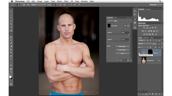 Adding dimension using curves and masking: Photoshop for Photographers: Portrait Retouching