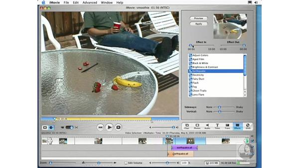 adding effects: Learning iLife: iTunes 4, iPhoto 2, iMovie 3 and iDVD 3
