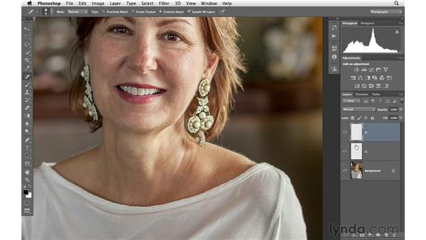 Reshaping a shoulder with Liquify: Photoshop for Photographers: Portrait Retouching