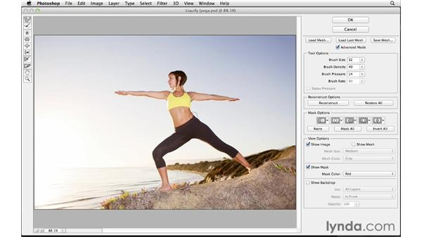 Reshaping the body with Liquify : Photoshop for Photographers: Portrait Retouching