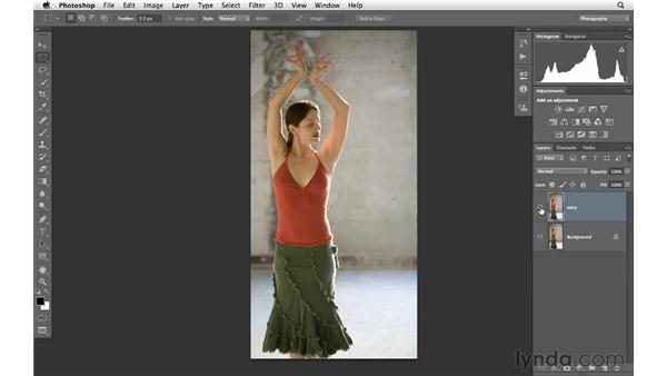 Modifying the body with the Warp tool: Photoshop for Photographers: Portrait Retouching
