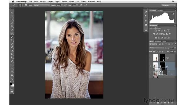 Changing shape with selections and masking: Photoshop for Photographers: Portrait Retouching