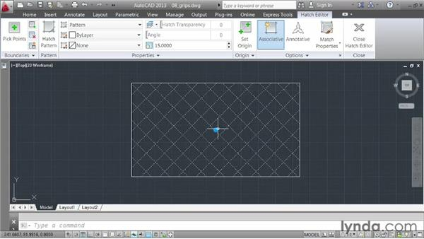 Leveraging grips: AutoCAD 2013 Essentials: 03 Editing and Organizing Drawings