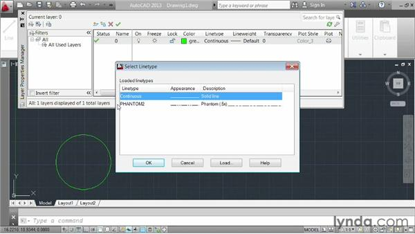 Creating and adjusting layers: AutoCAD 2013 Essentials: 03 Editing and Organizing Drawings