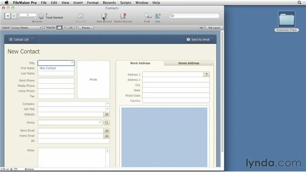 Creating databases from templates: FileMaker Pro 12 Essential Training