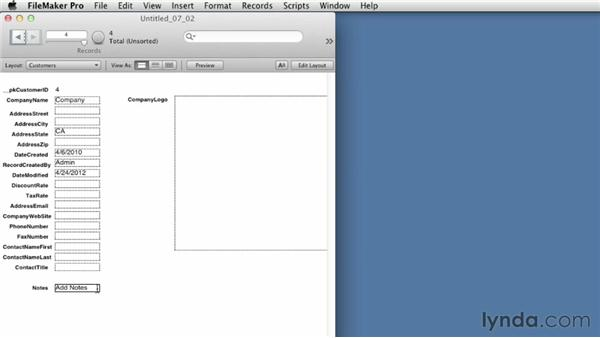 Editing and locking records: FileMaker Pro 12 Essential Training