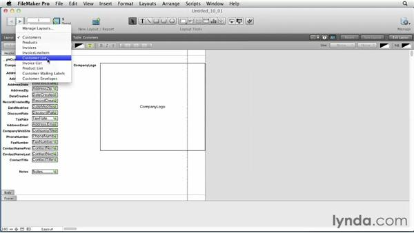 Using the Layout Setup dialog : FileMaker Pro 12 Essential Training