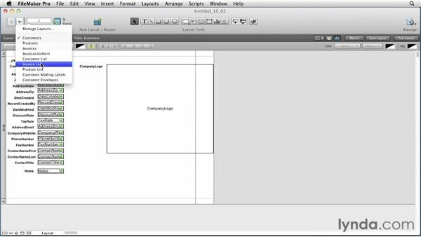 Understanding layout parts: FileMaker Pro 12 Essential Training