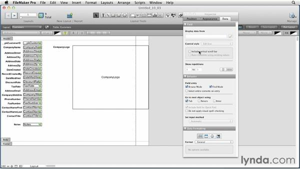 Previewing the new Inspector : FileMaker Pro 12 Essential Training
