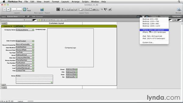 Applying Screen Stencils: FileMaker Pro 12 Essential Training